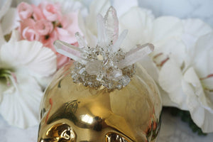 Contempo Crystals - Quartz Skull Piggy Bank. Quartz point cluster close-up - Image 3