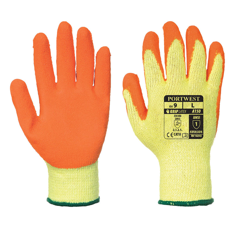 Portwest A150 Fortis Handling Work Glove with Crinkle Latex Grip ANSI