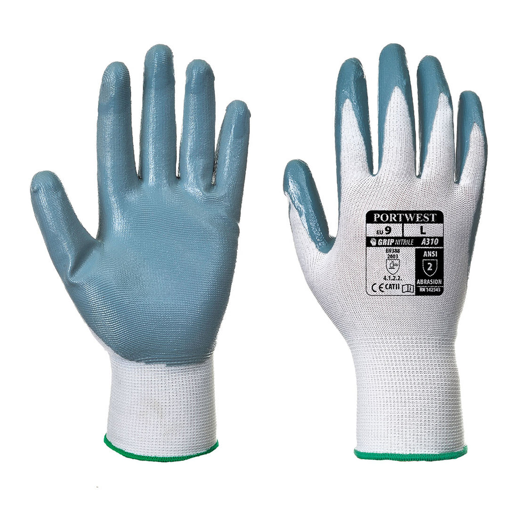 Portwest A310 Handling Work Safety Glove with Flexo Nitrile Coating Grip ANSI