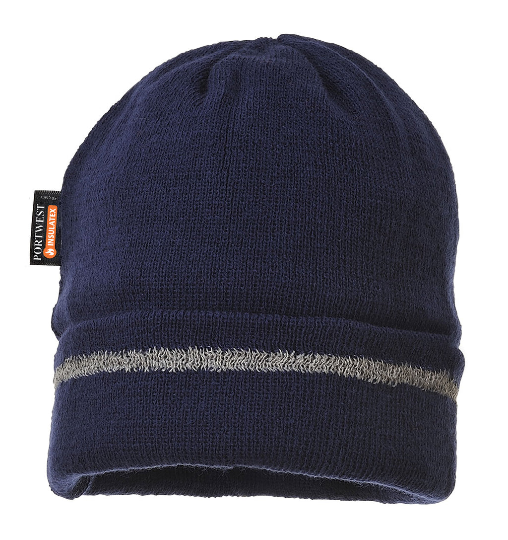 Portwest Knitted Hat Reflective Trim B023