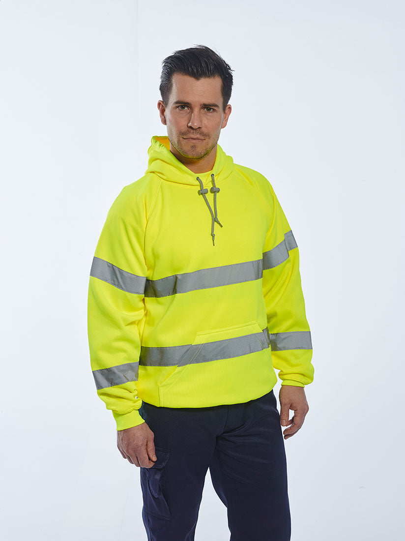 Portwest Hi-Vis Hooded Sweatshirt B304