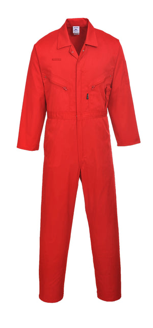 Portwest C813 Liverpool Zipper Coverall with Front Snap Closure and 2 Way Zipper