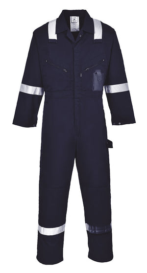 Portwest C814 Iona 100% Cotton Heavy Duty Work Overalls with Reflective Tape