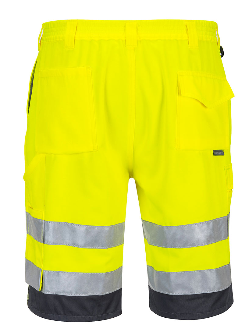 Portwest E043 Hi-Vis Reflective Polycotton Summer Shorts ANSI