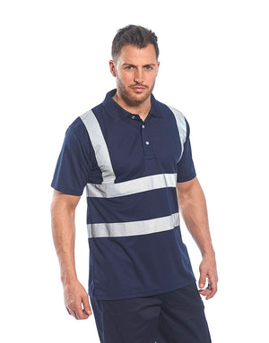 Portwest F477 Iona Wicking Polyester Work Wear Poloshirt with Reflective Tape