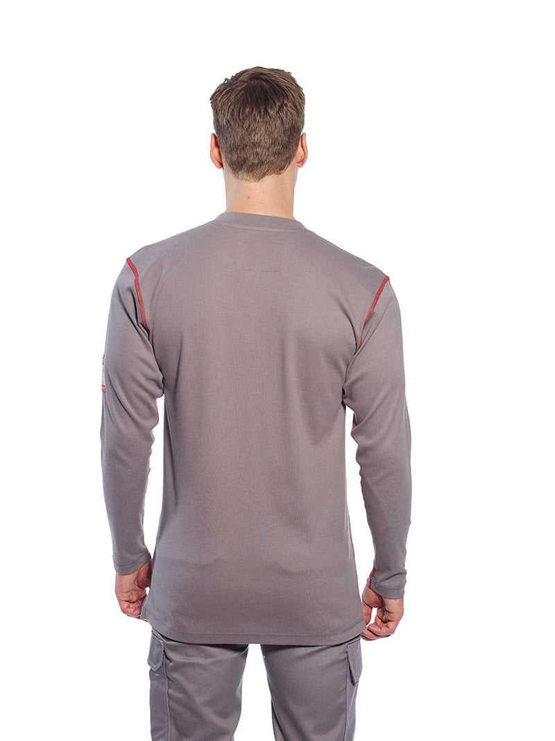 Portwest FR02 Bizflame Fire Resistant Henley Safety Long Sleeved T Shirt ASTM