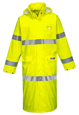 Portwest FR44 Sealtex Flame Resistant Hi-Vis 50 Inch Waterproof Coat ANSI