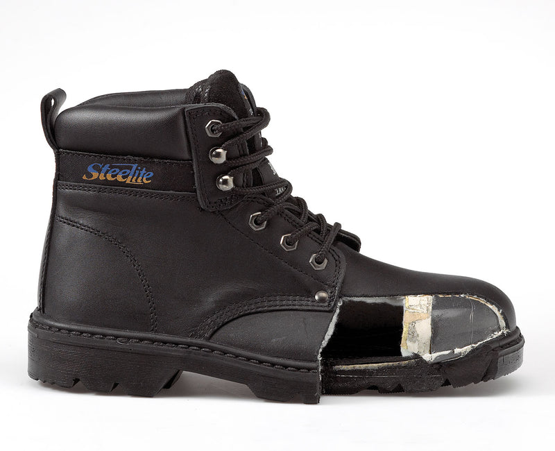 Portwest FW10 Steelite Leather Work Boot with Protective Steel Toecap ASTM