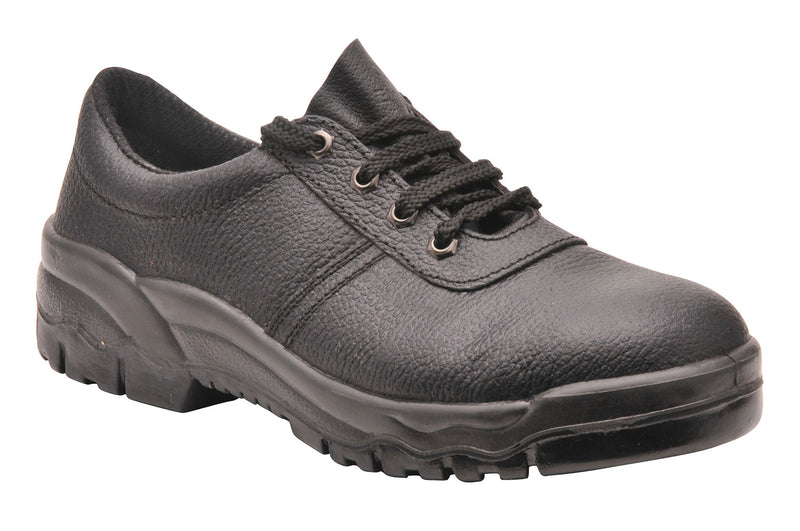 Portwest FW14 Steelite Black Leather Work Shoe with Protective Steel Toecap ASTM