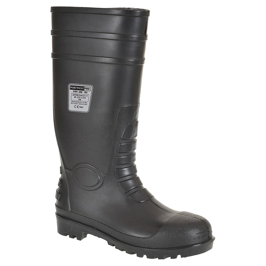 Portwest FW95 Total Safety PVC Waterproof Boot with Protective Steel Toecap ASTM