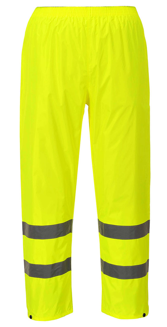 Portwest H441 Lightweight Hi-Vis Waterproof Pants with Reflective Tape ANSI