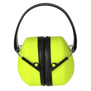 Portwest PS41 Hi-Vis Adjustable Super HV Foldable Work Ear Protector Muff ANSI