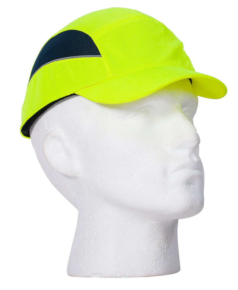 Portwest PS59 AirTech Hi-Vis Safety Bump Cap with Breathable Mesh Side