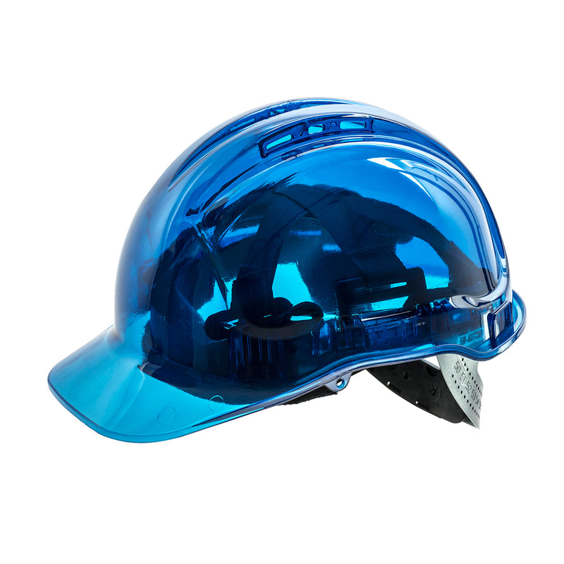 Portwest PV54 Peak View Polycarbonate Plus Protective Work Ratchet Hard Hat ANSI