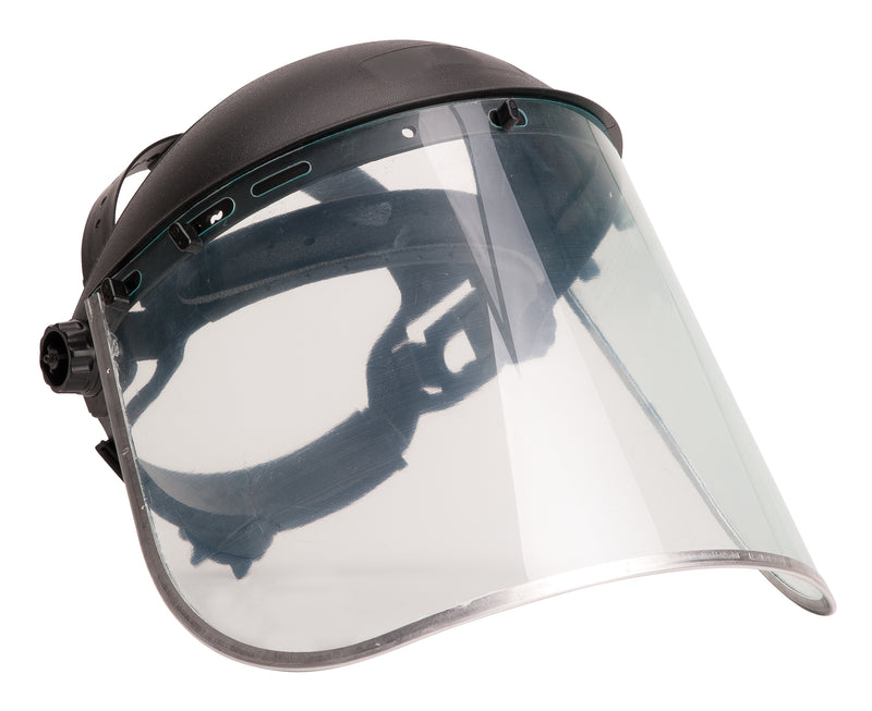 Portwest PW96 PPE Protective Work Browguard and Safety Face Shield Plus ANSI