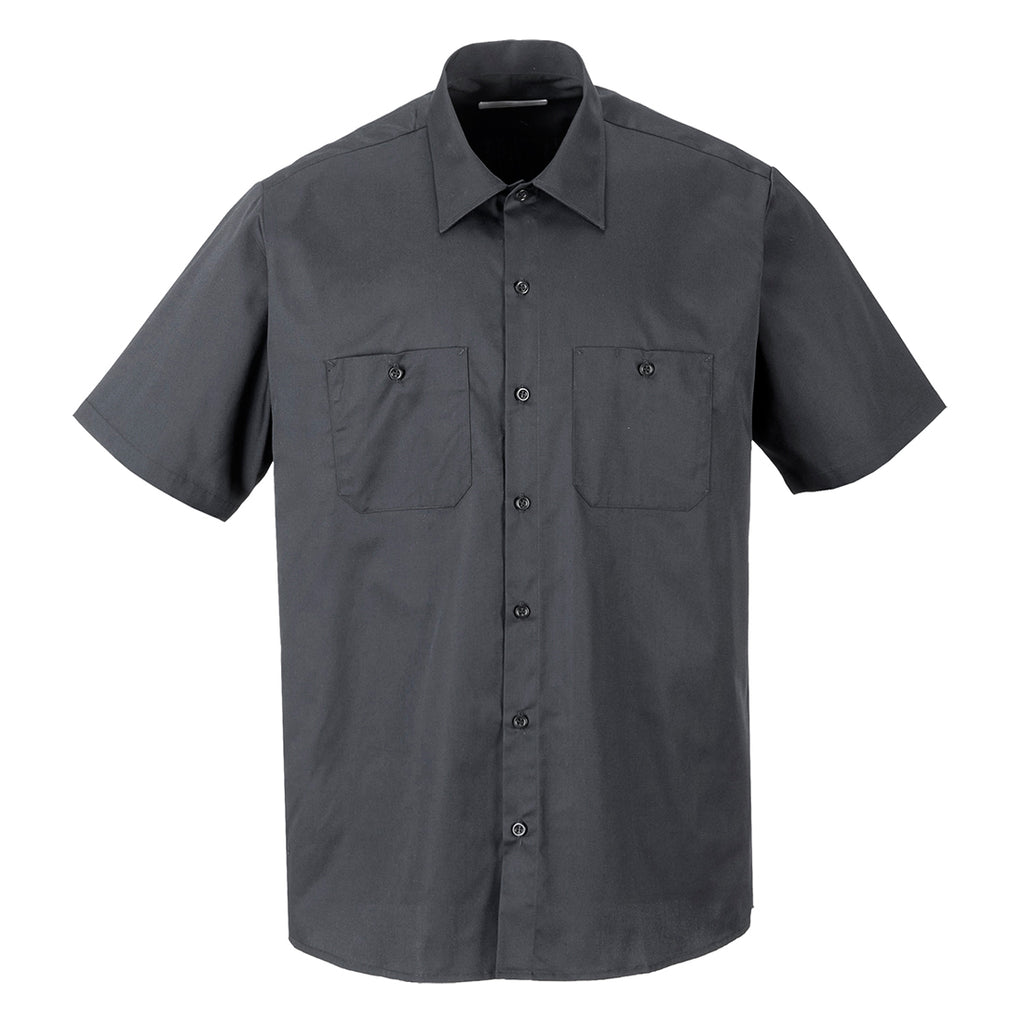 Portwest S124 Industrial Polycotton Work Short Sleeved Shirt with 2 Pockets