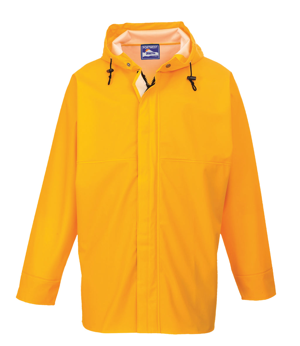 Portwest S250 Sealtex Waterproof Safety Ocean Jacket with Stormflap & Hood