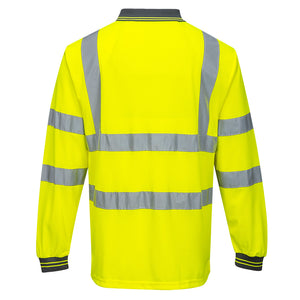 Portwest Hi-Vis Polo Shirt L/S S277