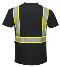 Portwest S396 Iona Short Sleeve Safety Work  T Shirt  with HiVis Reflective Tape