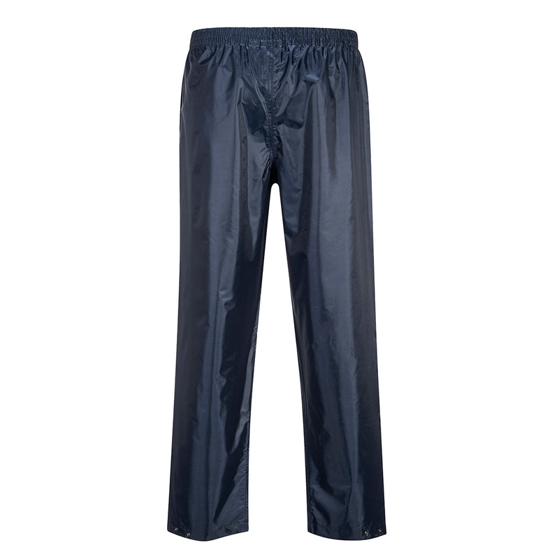 Portwest S441 Classic Adult Waterproof Work Rain Pants with Snap Adjustable Hems