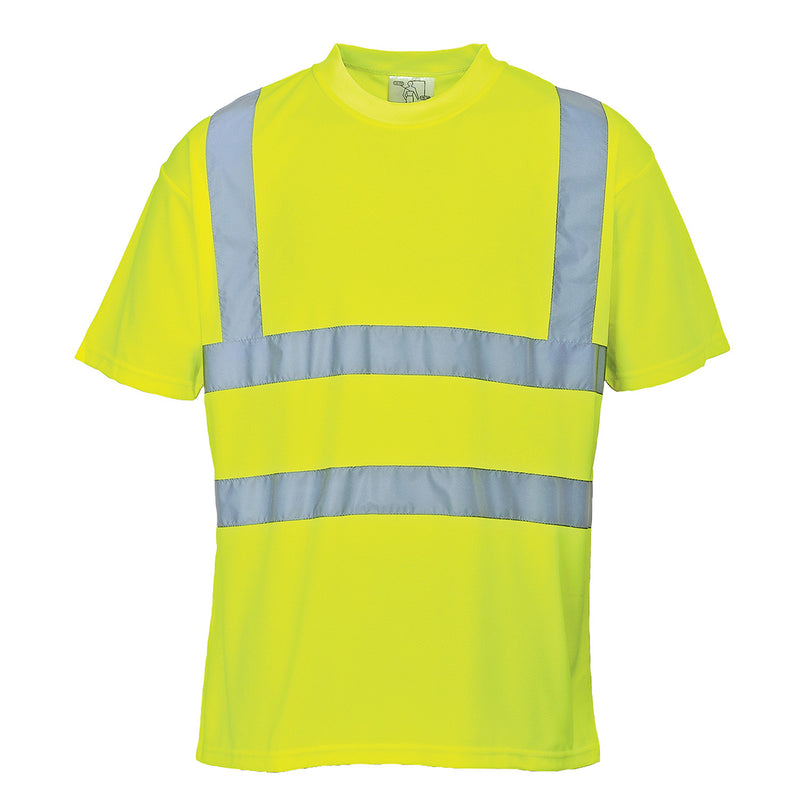 Portwest S478 Hi-Vis Reflective Crew Neck Polyester Safety Work T-Shirt ANSI