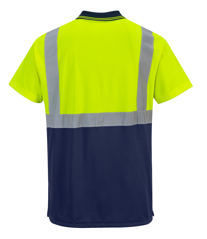 Portwest S479 Hi-Vis 2 Tone Contrast Reflective Short Sleeve Safety Polo ANSI