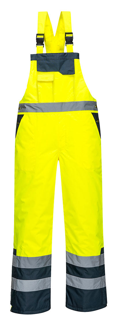 Portwest Contrast Bib and Brace Lined S489