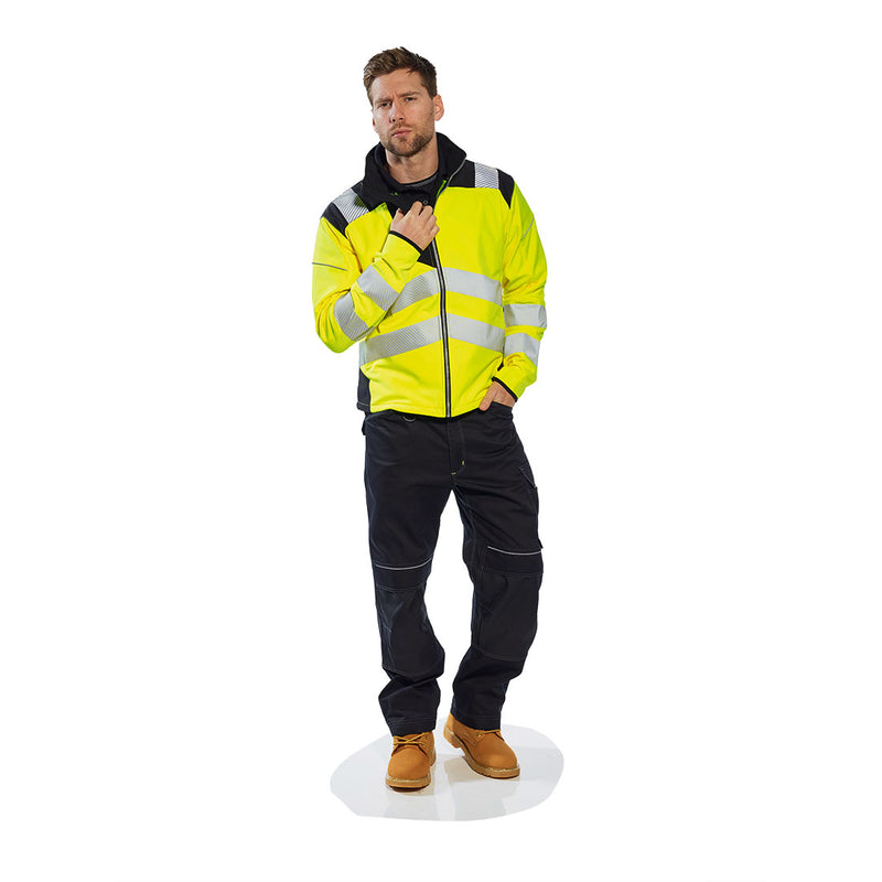 Portwest T402 Vision Reflective Hi-Vis Safety Softshell Waterproof Jacket ANSI