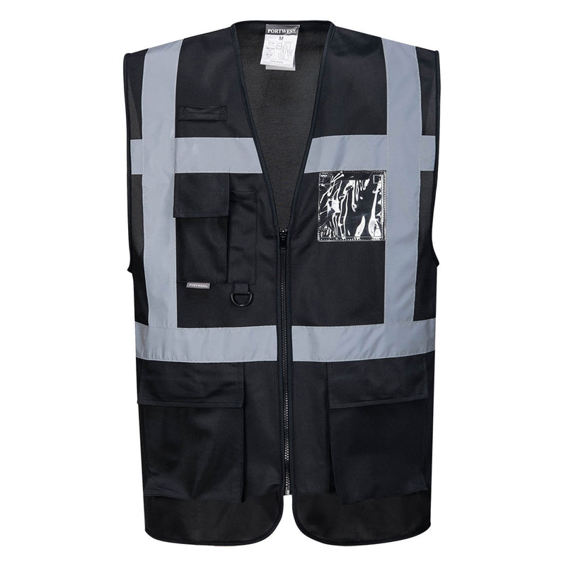Portwest UF476 Iona Executive Safety Lightweight Zip Vest with Reflective Tape