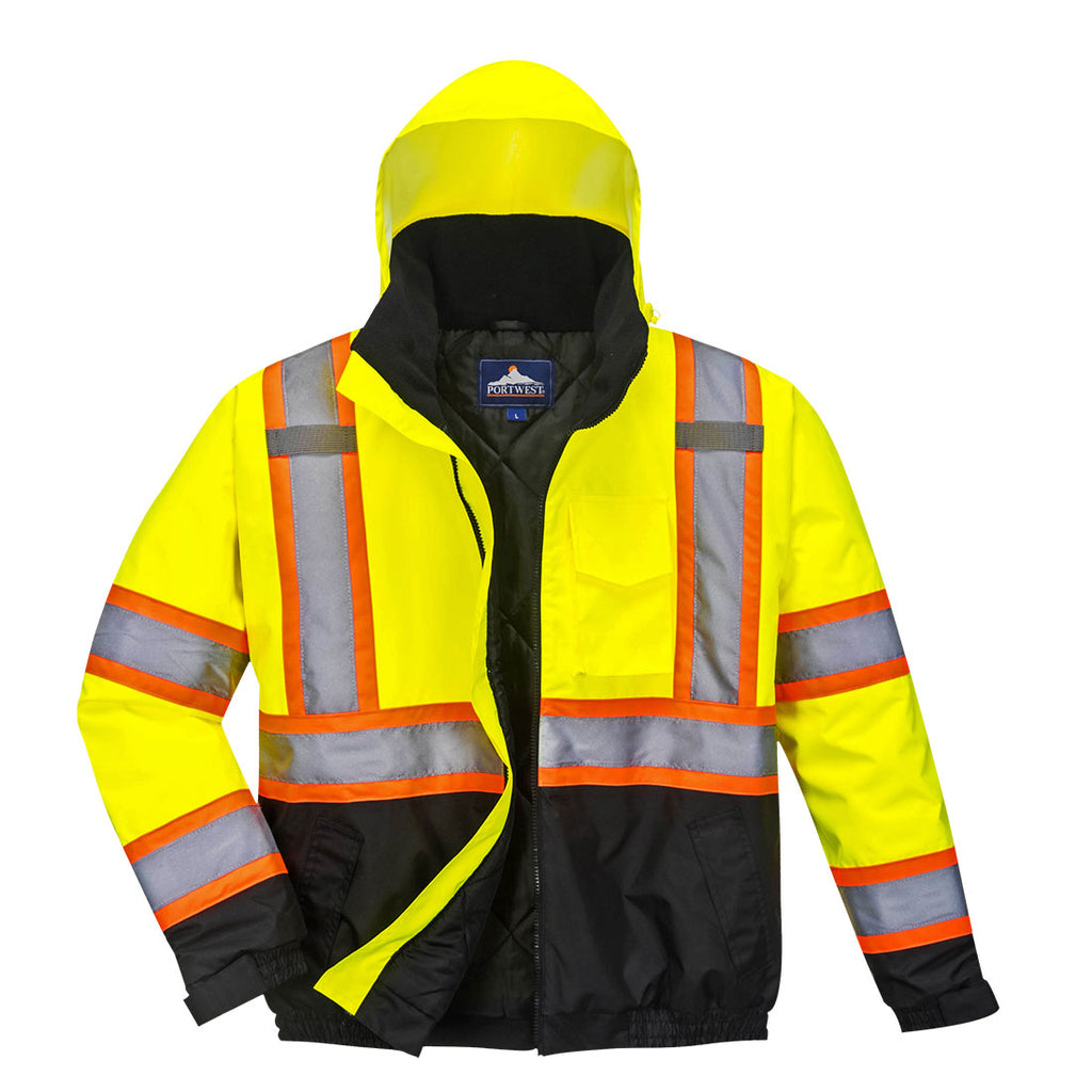 Portwest Hi-Vis 2in1 Bomber Jacket US367