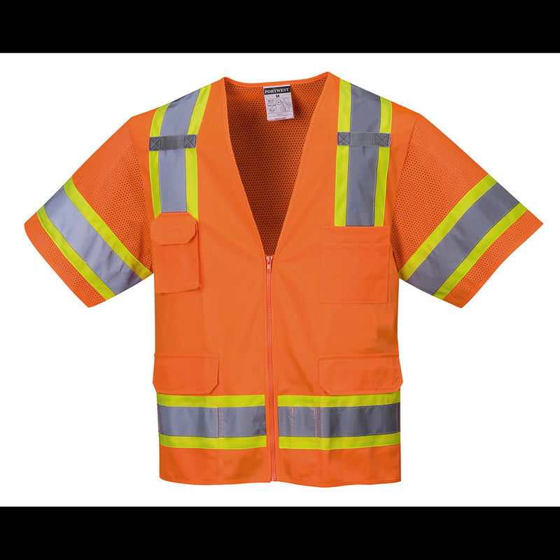 Portwest Aurora Sleeved Hi-Vis Vest US373