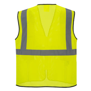 Portwest US380 Tampa Hi-Vis Reflective Safety Work Zipper Cooling Mesh Vest ANSI