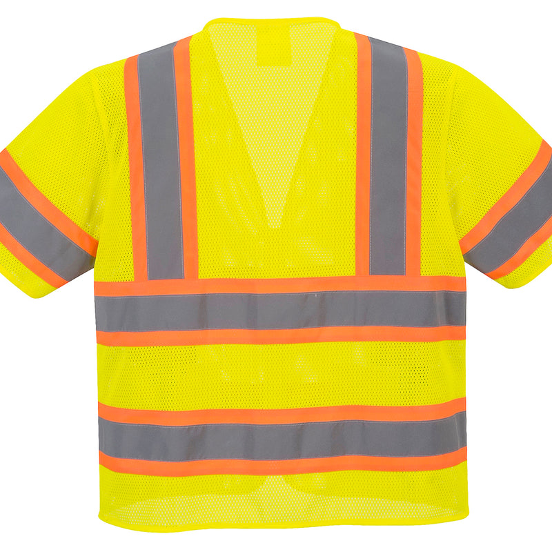 Portwest US383 Augusta Sleeved HiVis Cooling Mesh Vest with Reflective Tape ANSI