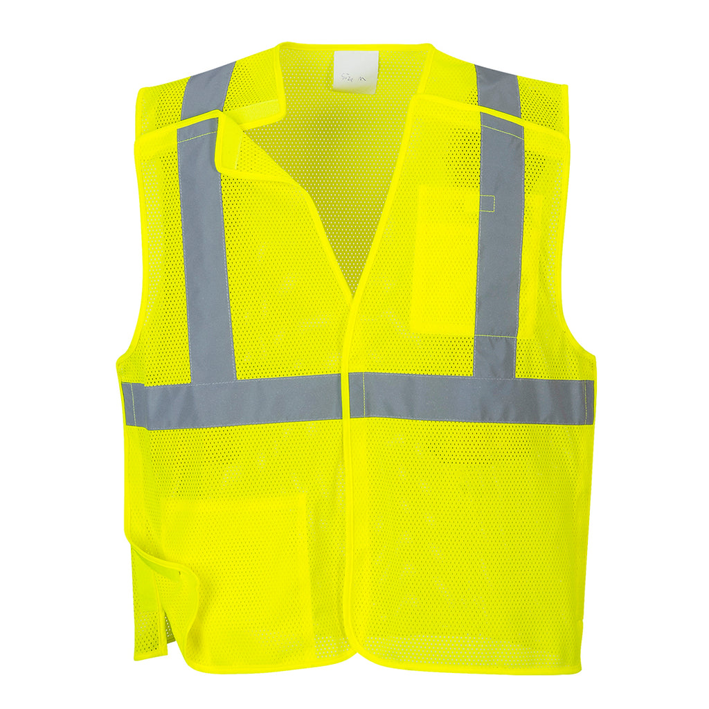 Portwest US384 Economy Hi-Vis Reflective Mesh Break-Away Safety Vest ANSI