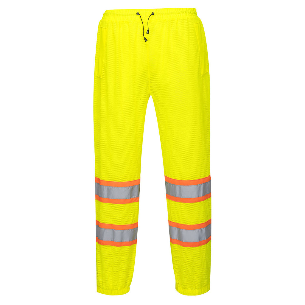 Portwest US386 HiVis Contrast Reflective Safety Outdoor Work Mesh Overpants ANSI