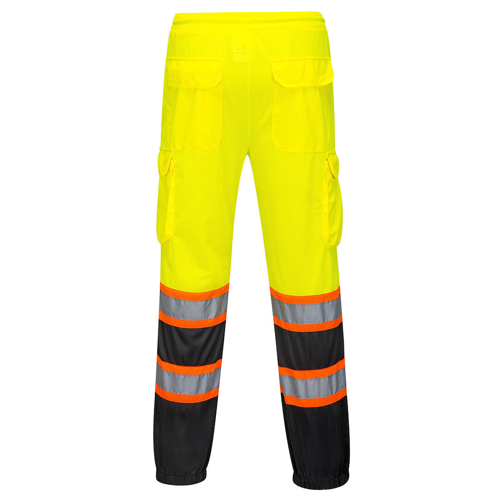 Portwest US388 Two Tone Hi-Vis Reflective Safety Mesh Cargo Overpants ANSI