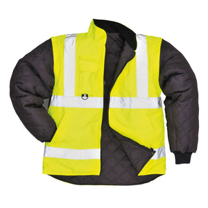 Portwest US427 Hi-Vis Yellow Reflective 7-in-1 Traffic Safety Work Jacket ANSI