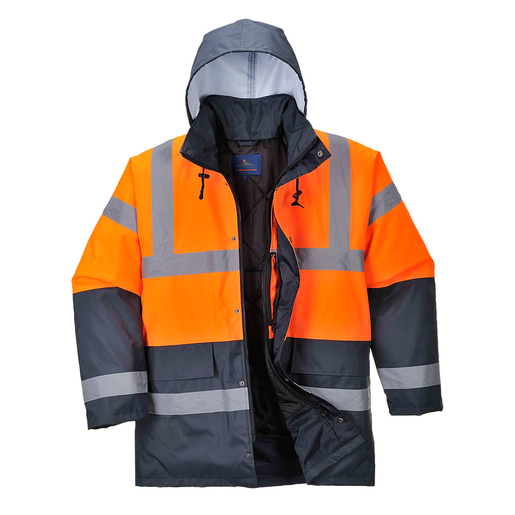 Portwest Hi-Vis Contrast Traffic Jacket US467