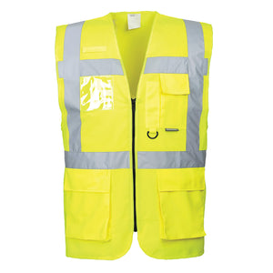 Portwest US476 Berlin Executive Hi-Vis Reflective Safety Zipper Vest ANSI