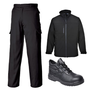 Workwear Jacket, Pants & Boots Bundle