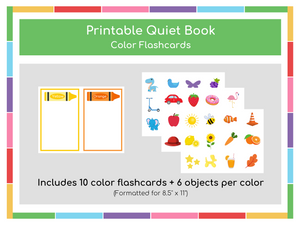 Color Flashcards Busy Book - Digital Download