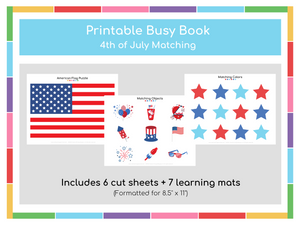 4th of July Busy Book - Digital Download