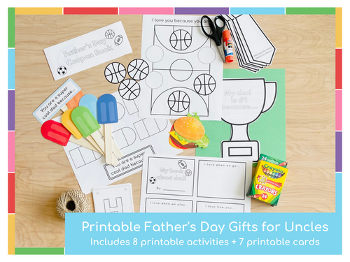 Father's Day Printable Activities - Uncle Edition - Digital Download