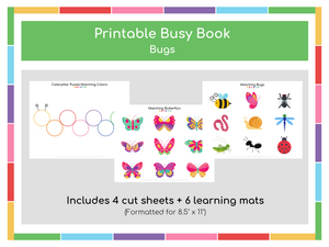 Bugs Busy Book - Digital Download