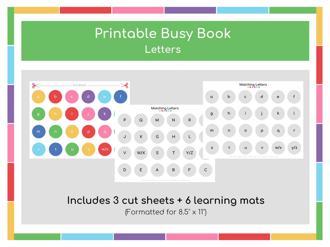 Alphabet Busy Book - Digital Download