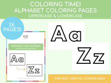 Load image into Gallery viewer, Alphabet Coloring Pages