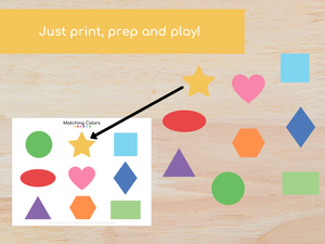 Shape Matching Busy Book - Digital Download
