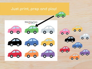 Vehicle Matching Busy Book - Digital Download