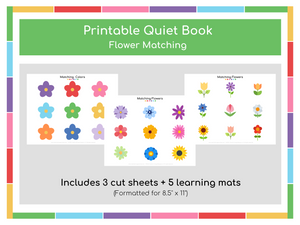 Flower Matching Busy Book - Digital Download
