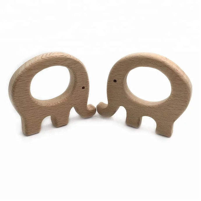 Wooden Elephant Teether - Creative Change Designs